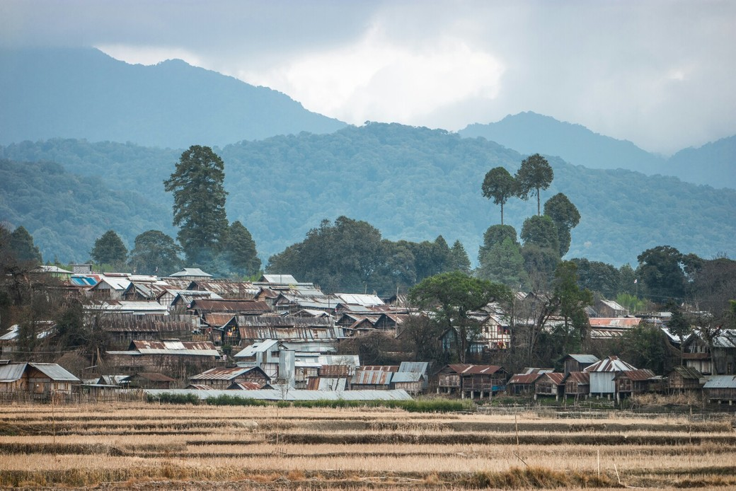 village in Ziro Valley Pradesh India