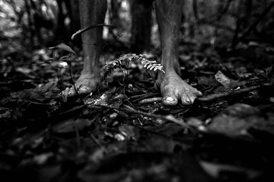 Awa Brazil indigenous bare feet