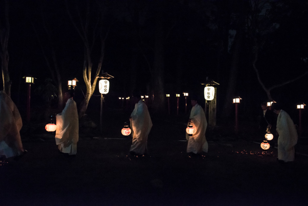 Otsu Japan Sanno Fest night lanterns