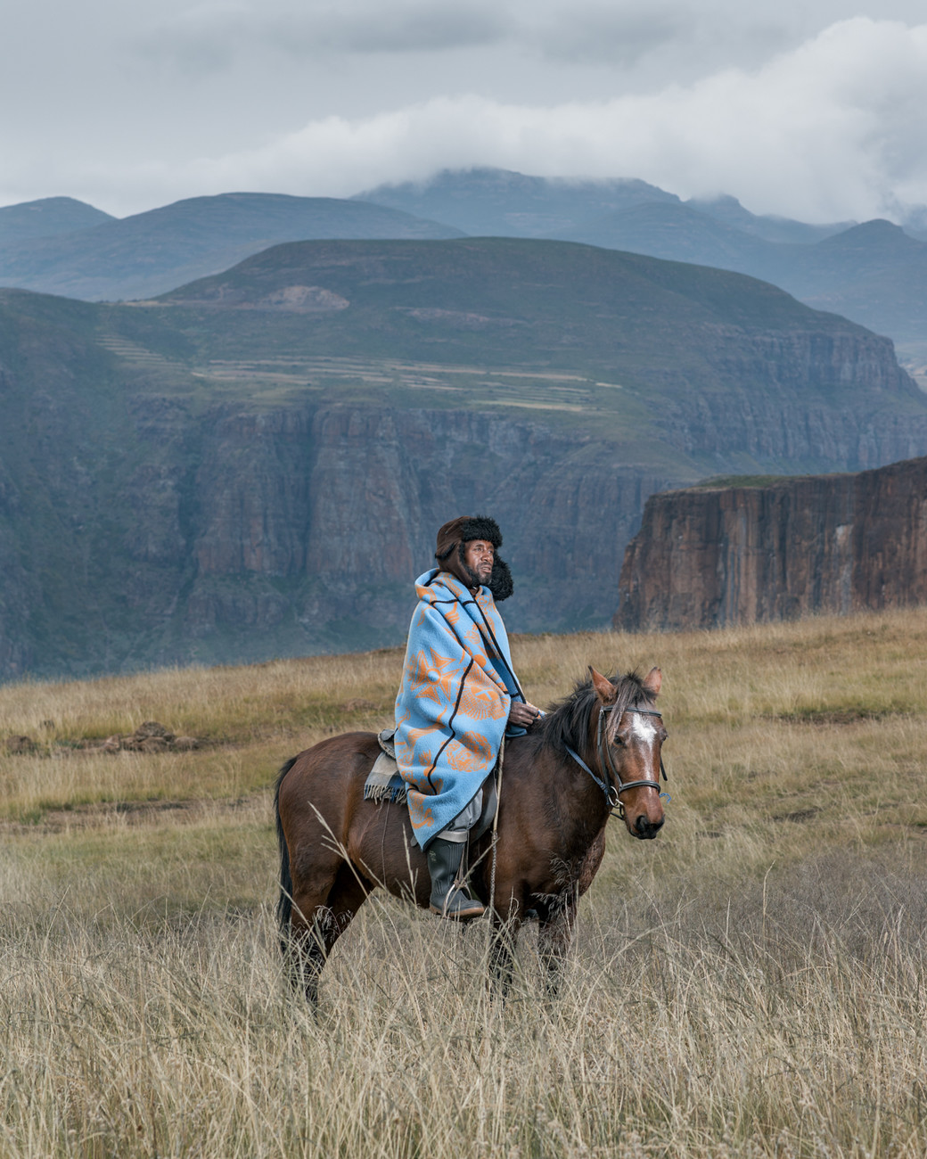 horsemen Lesotho blue cape mountains