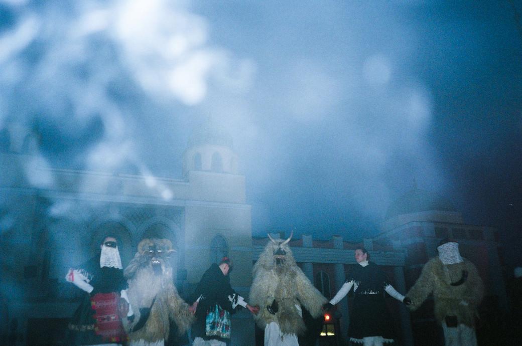 hungary mohacs monster festival smoke village
