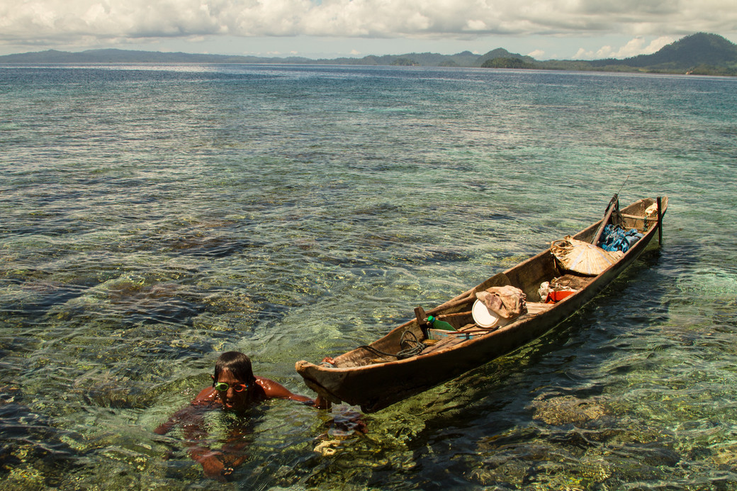 Bajau boat fishing diving Indonesia