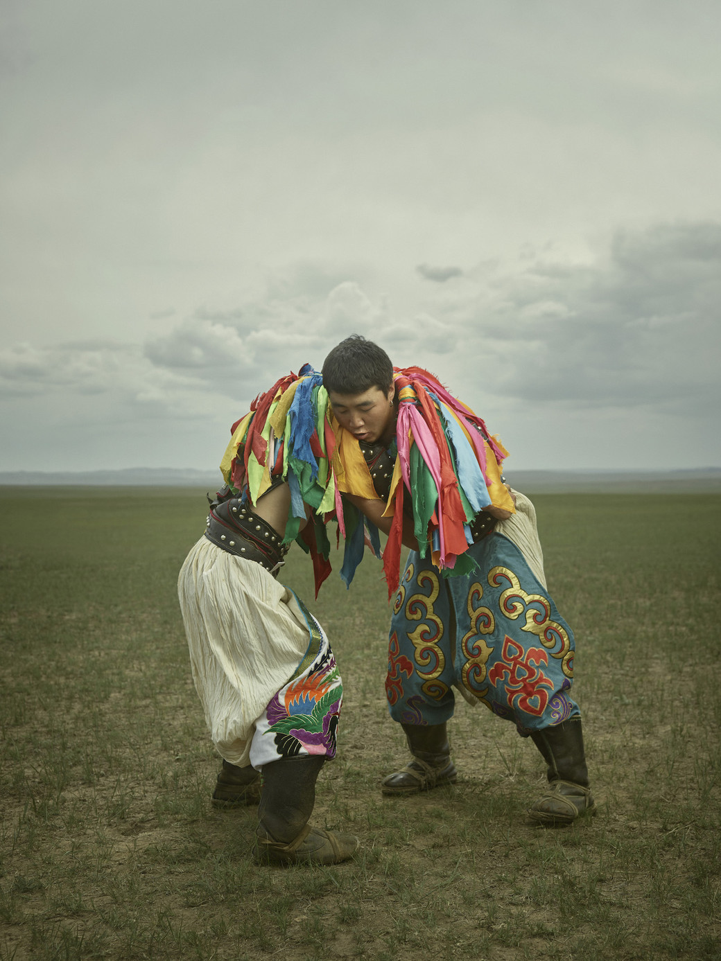 wrestling Mongolia two men grappling