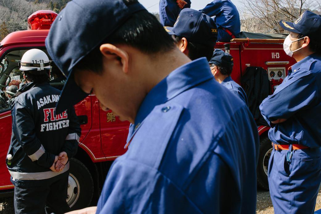 Takao firemen Japan burn